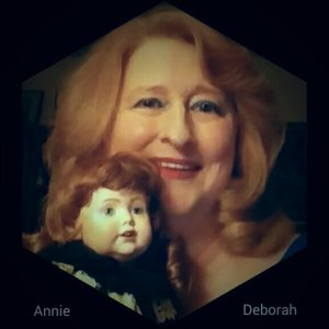 Annie and Deborah. The doll was hand-made by one of my dearest friends mother-in-law ... many years ago. Annie is my muse and my heart.