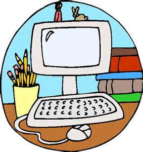 computer and pencils