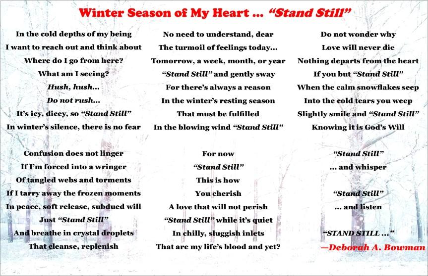 Stand Still poem, 5-13-18